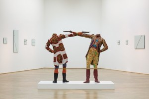 Yinka Shonibare, How to Blow Up Two Heads at Once (Gentlemen), 2006.  Courtesy of the artist and Colecçõ Sindika Dokolo, Luanda.