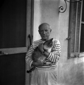 Pablo Picasso / Photograph by Carlos Nadal, 1960; © Estate of Pablo Picasso /