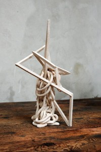 Mattia Bosco, Terra in esilio 3, 2012, white clay, cm 24x19x42,5