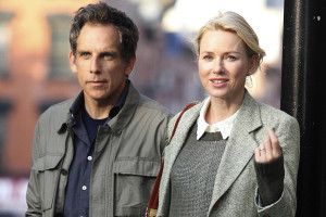 BEN STILLER AND NAOMI WATTS FILMING IN NEW YORK