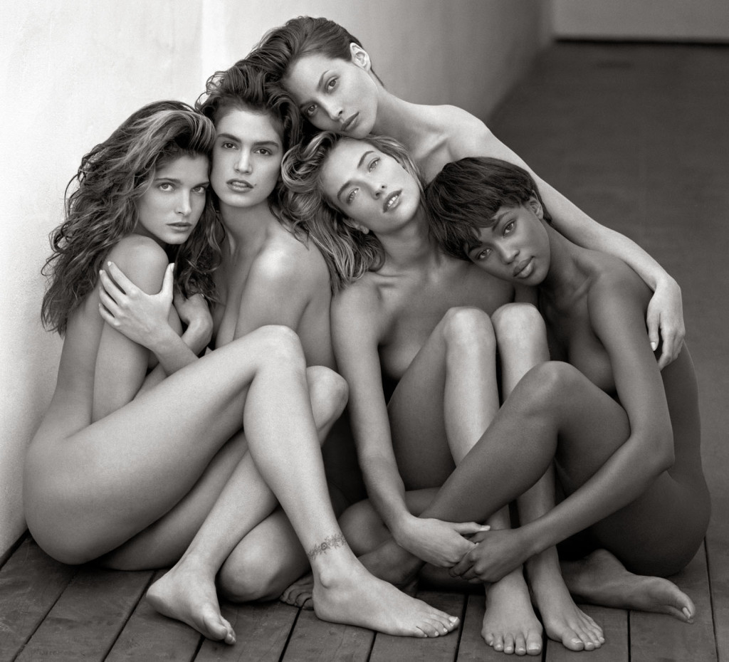 Stephanie, Cindy, Cristy, Tatjana, Naomi, Hollywood 1989