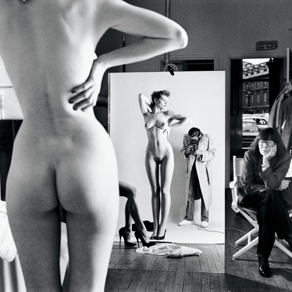 Self-Portrait with Wife and Models from the series Big Nudes Vogue Studio, Paris 1981 © Helmut Newton Estate