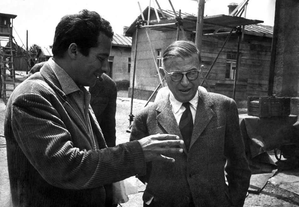 Con Sartre sul set di Kapò