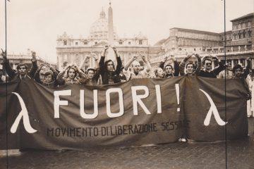 V Congresso nazionale del Fuori, Piazza San Pietro, Roma, 23-25 aprile 1976 (archivio